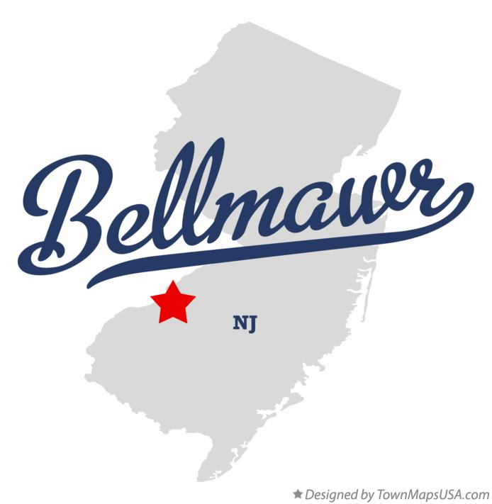 Map of Bellmawr New Jersey NJ
