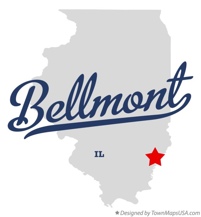 Map of Bellmont Illinois IL