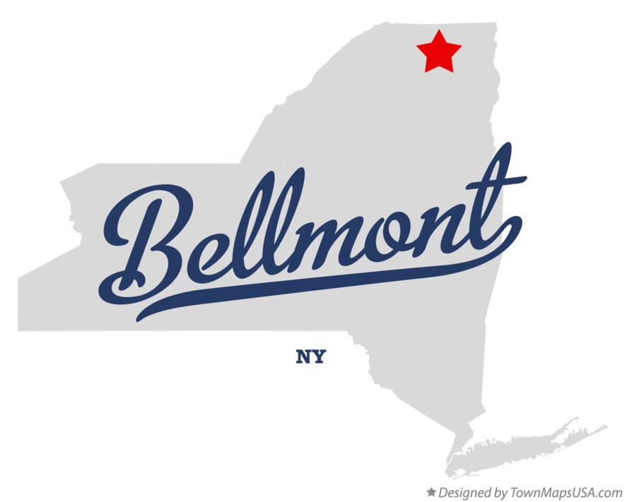 Map of Bellmont New York NY