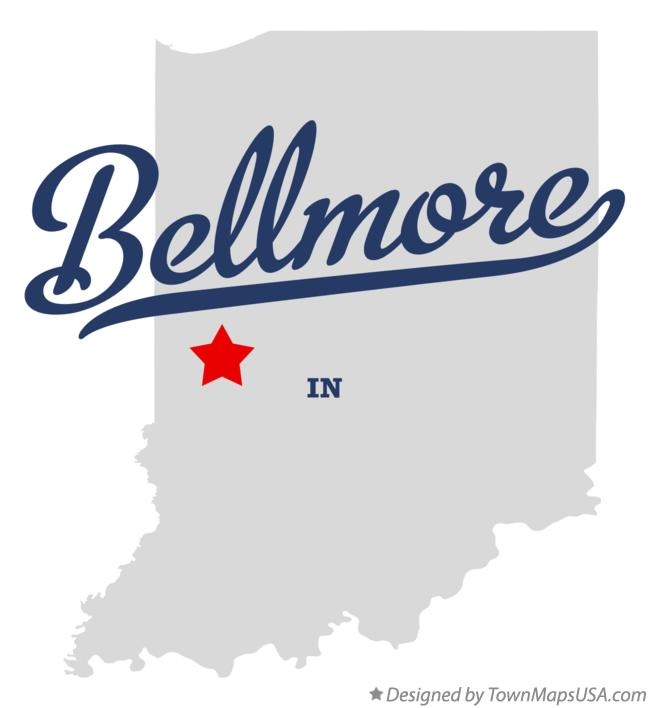 Map of Bellmore Indiana IN