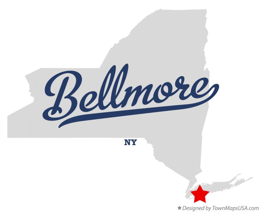 Map of Bellmore New York NY