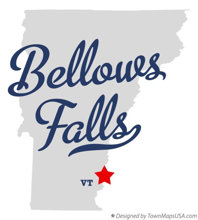 Map of Bellows Falls VT Vermont