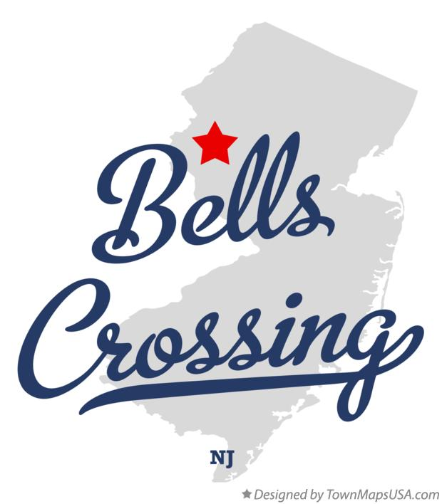 Map of Bells Crossing New Jersey NJ