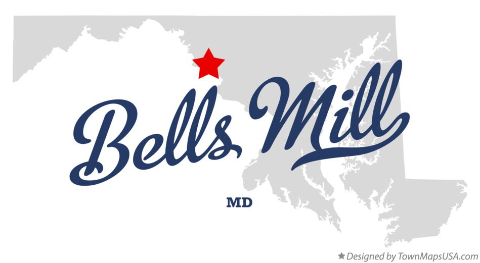 Map of Bells Mill Maryland MD