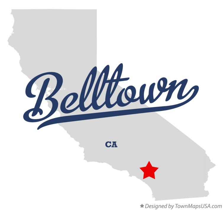 Map of Belltown California CA