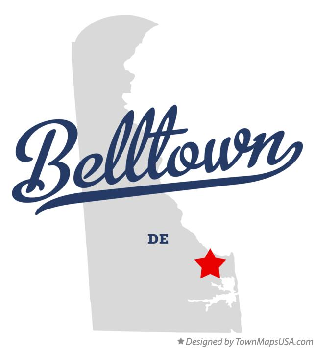 Map of Belltown Delaware DE