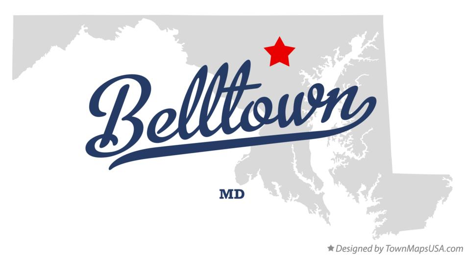 Map of Belltown Maryland MD