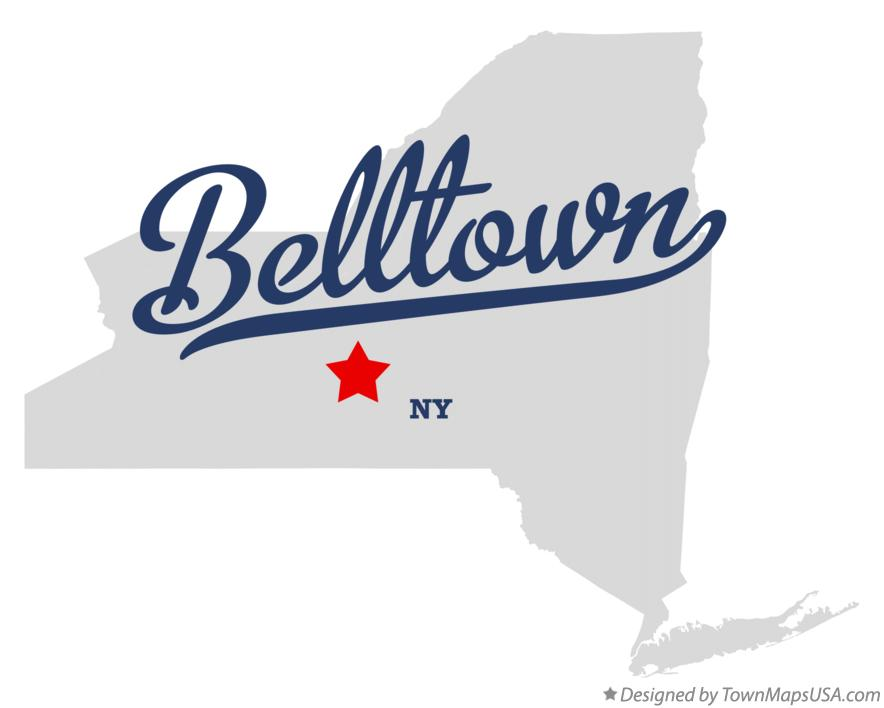 Map of Belltown New York NY