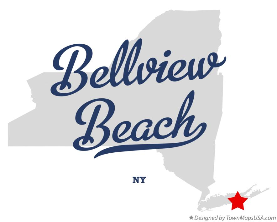 Map of Bellview Beach New York NY
