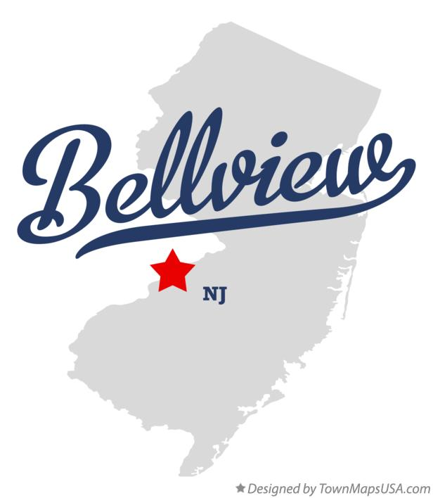 Map of Bellview New Jersey NJ