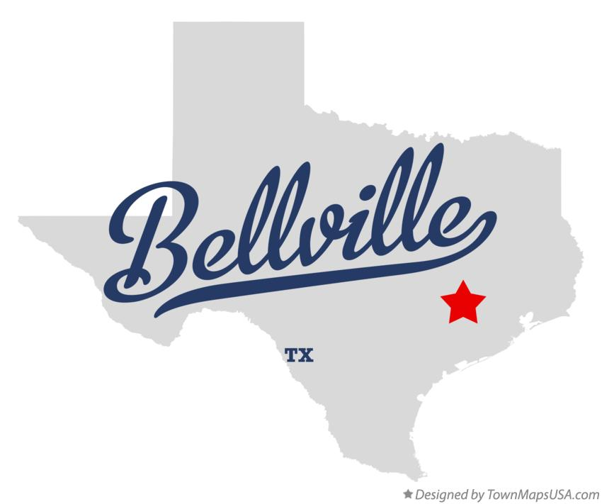 Map of Bellville Texas TX