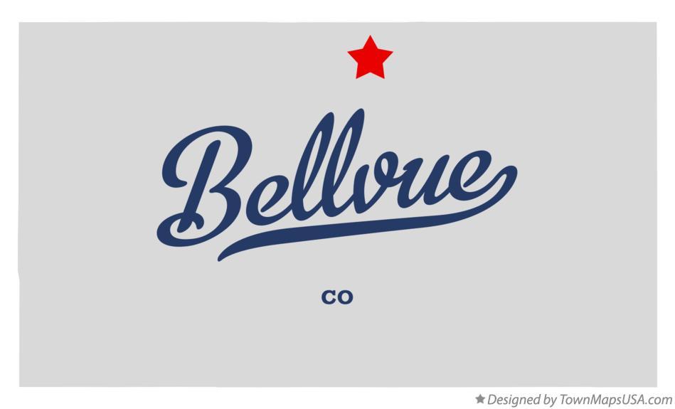 Map Of Bellvue Co Colorado