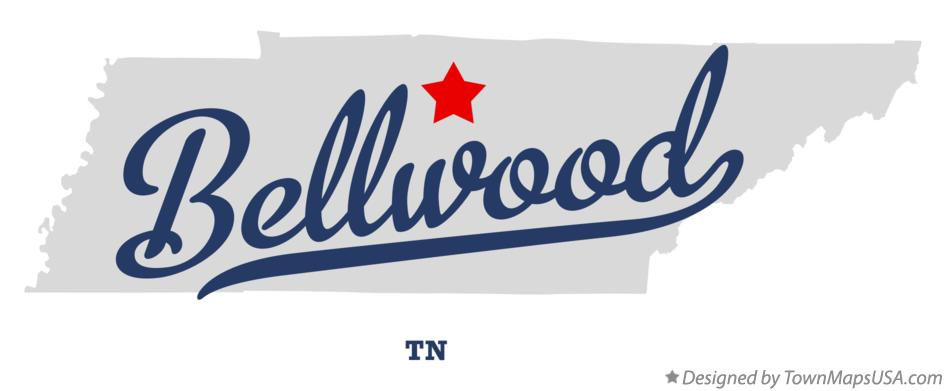 Map of Bellwood Tennessee TN