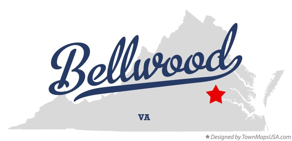 Map of Bellwood Virginia VA