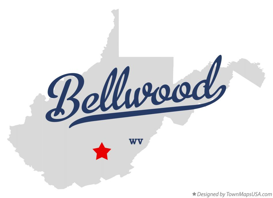 Map of Bellwood West Virginia WV