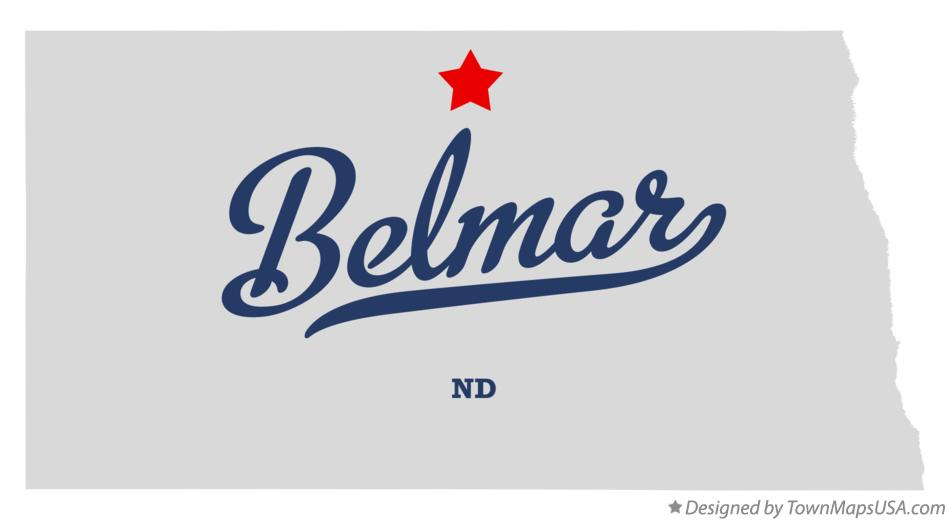 Map of Belmar North Dakota ND