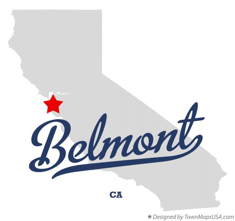 Map of Belmont California CA