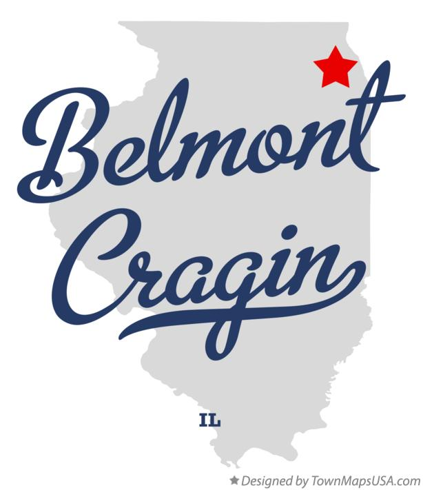 Map of Belmont Cragin Illinois IL