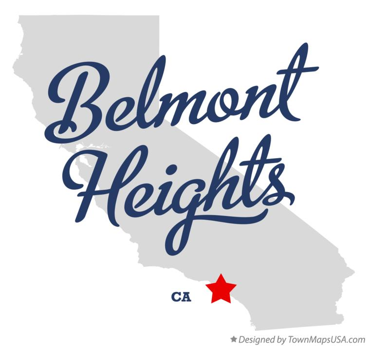 Map of Belmont Heights California CA