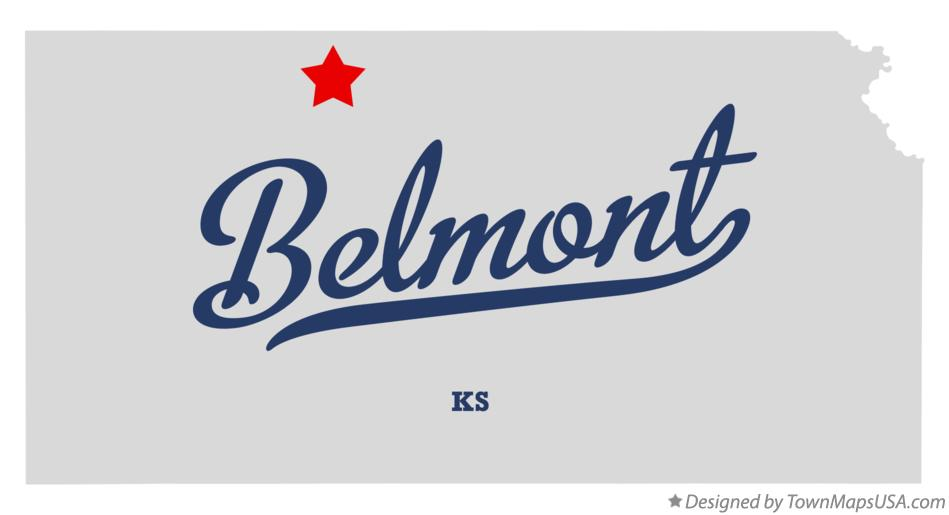 Map of Belmont Kansas KS