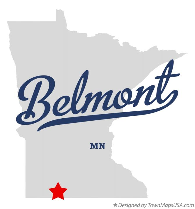 Map of Belmont Minnesota MN