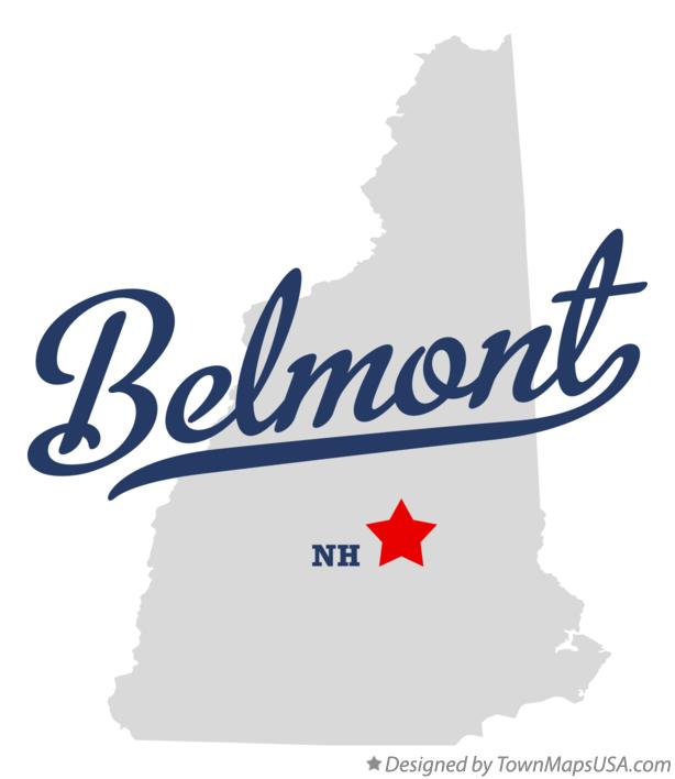 Map of Belmont New Hampshire NH
