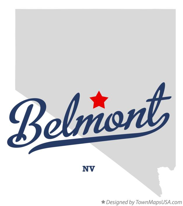 Map of Belmont Nevada NV