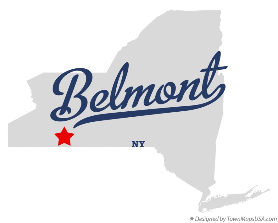 Map of Belmont New York NY