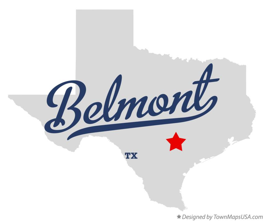 Map of Belmont Texas TX