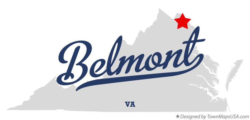 Map of Belmont Virginia VA