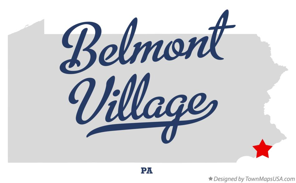 Map of Belmont Village Pennsylvania PA