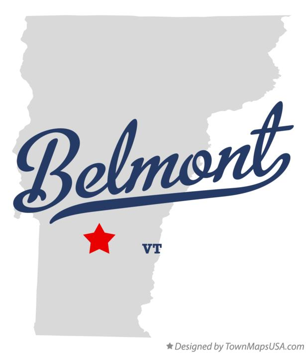 Map of Belmont Vermont VT
