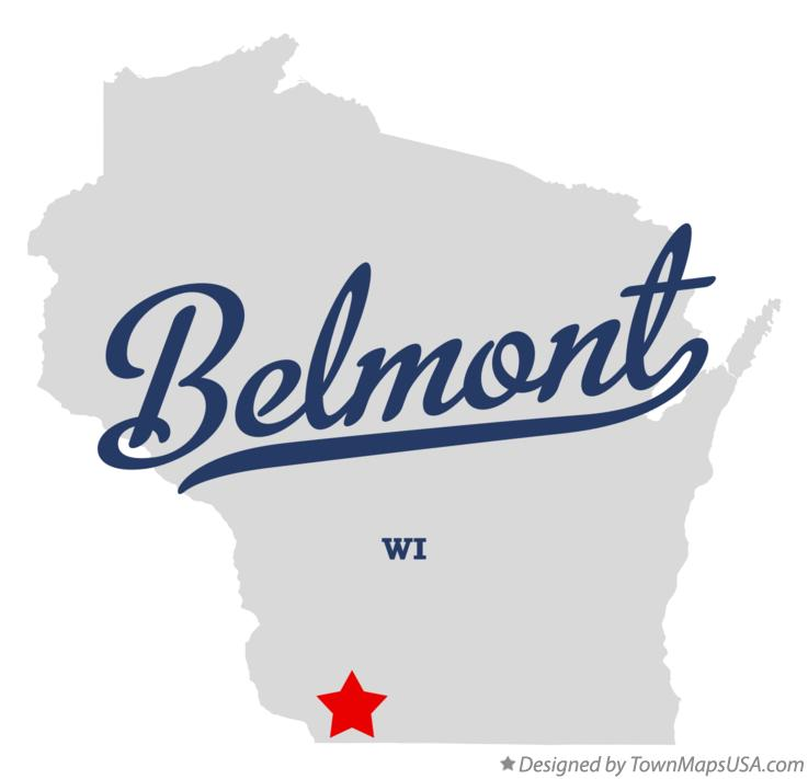 Map of Belmont Wisconsin WI