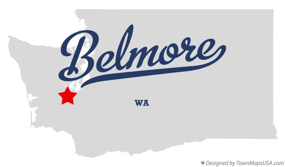 Map of Belmore Washington WA