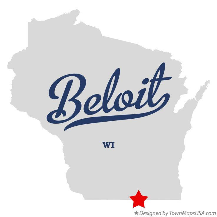 Map of Beloit Wisconsin WI
