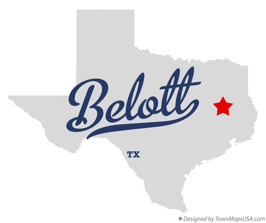 Map of Belott Texas TX