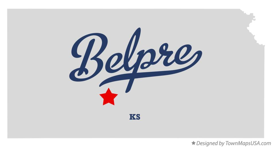 Map of Belpre Kansas KS