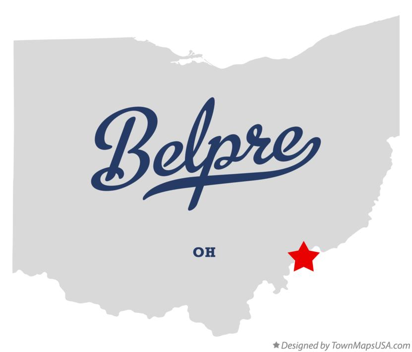 Map of Belpre Ohio OH