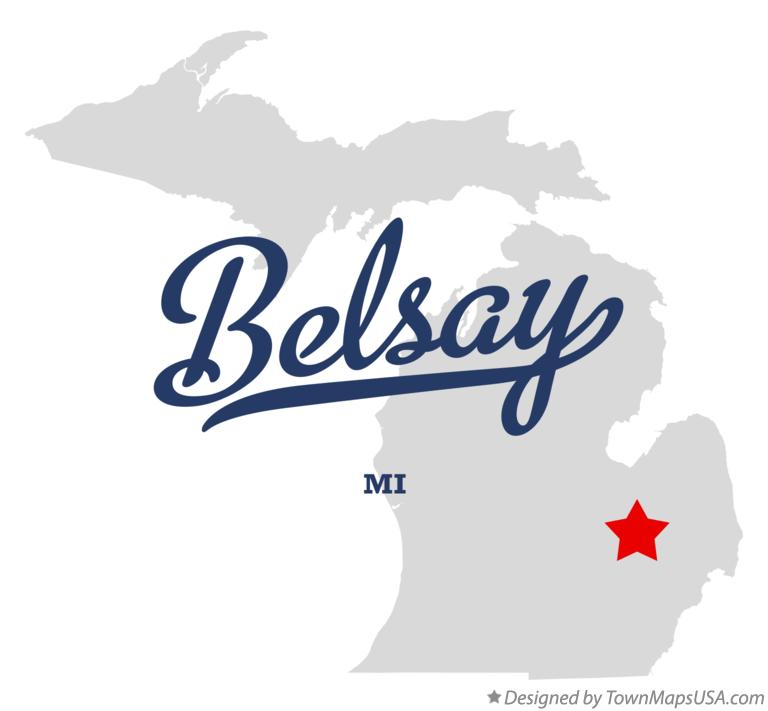 Map of Belsay Michigan MI