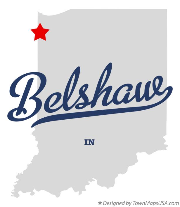 Map of Belshaw Indiana IN