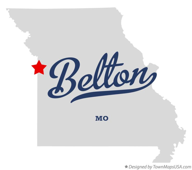 Belton (MO) United States  City pictures : Map of Belton, MO, Missouri