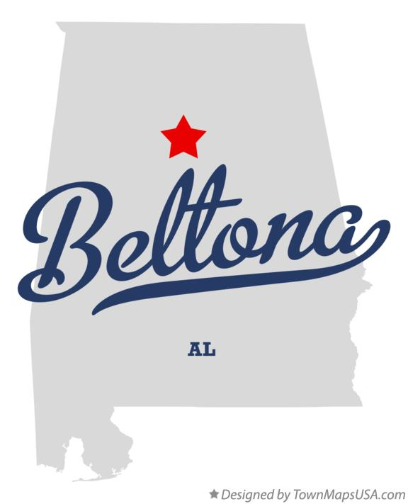 Map of Beltona Alabama AL