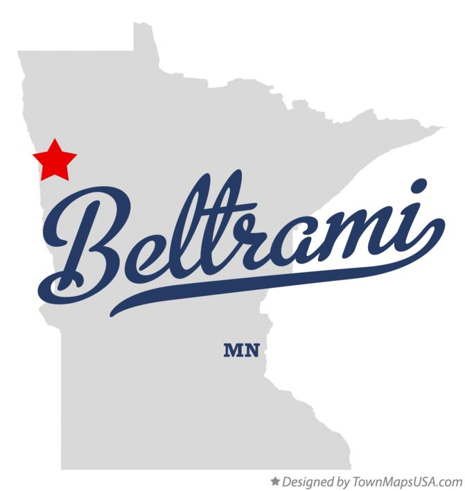 Map of Beltrami Minnesota MN