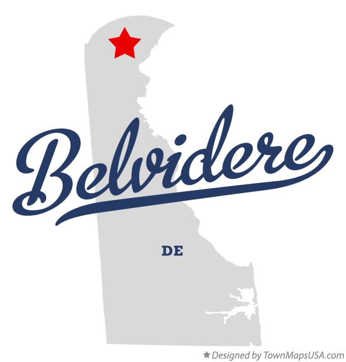 Map of Belvidere Delaware DE