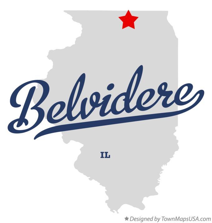 Map Of Belvidere Il Illinois