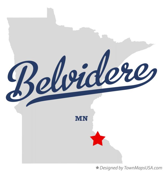 Map of Belvidere Minnesota MN