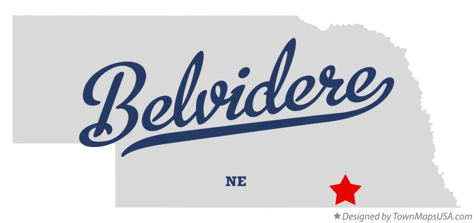 Map of Belvidere Nebraska NE
