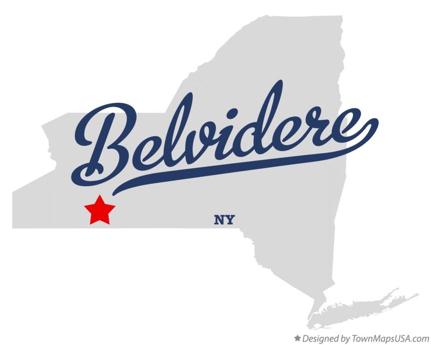 Map of Belvidere New York NY