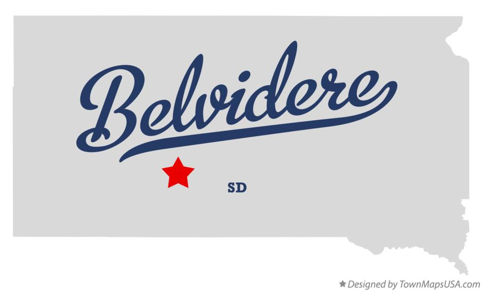 Map of Belvidere South Dakota SD