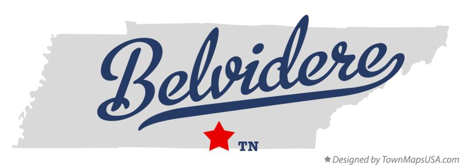 Map of Belvidere Tennessee TN
